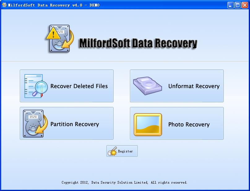 Click to view Milfordsoft Data Recovery screenshots